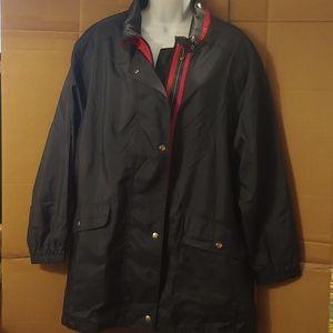 Women's Forecaster Navy Blue Windbreaker Jacket, L